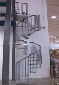 Fairplay spiral stairs