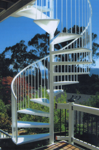 Benicia spiral stairs