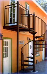 Aluminum spiral stairs