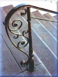 stair ironwork detail
