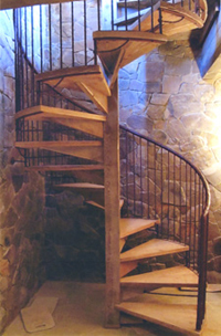 Skinner Winery spiral stairs