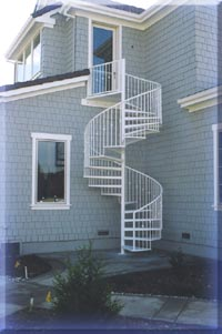 Woodcreek spiral stairs